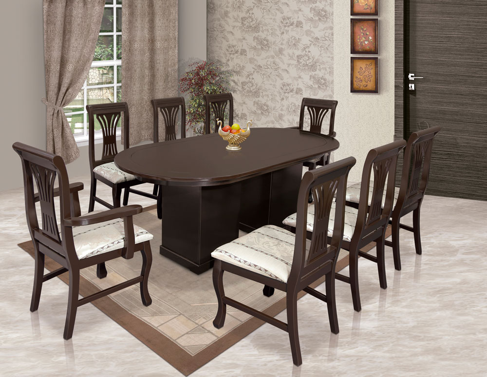 Comedor moldura 8 sillas muebleria vidal for Falabella muebles de comedor