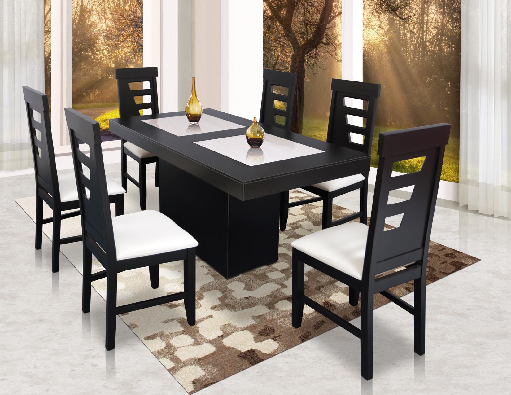 Paquete andre recamara k s comedor 6 sillas y centro de for Comedor pequea o 4 sillas