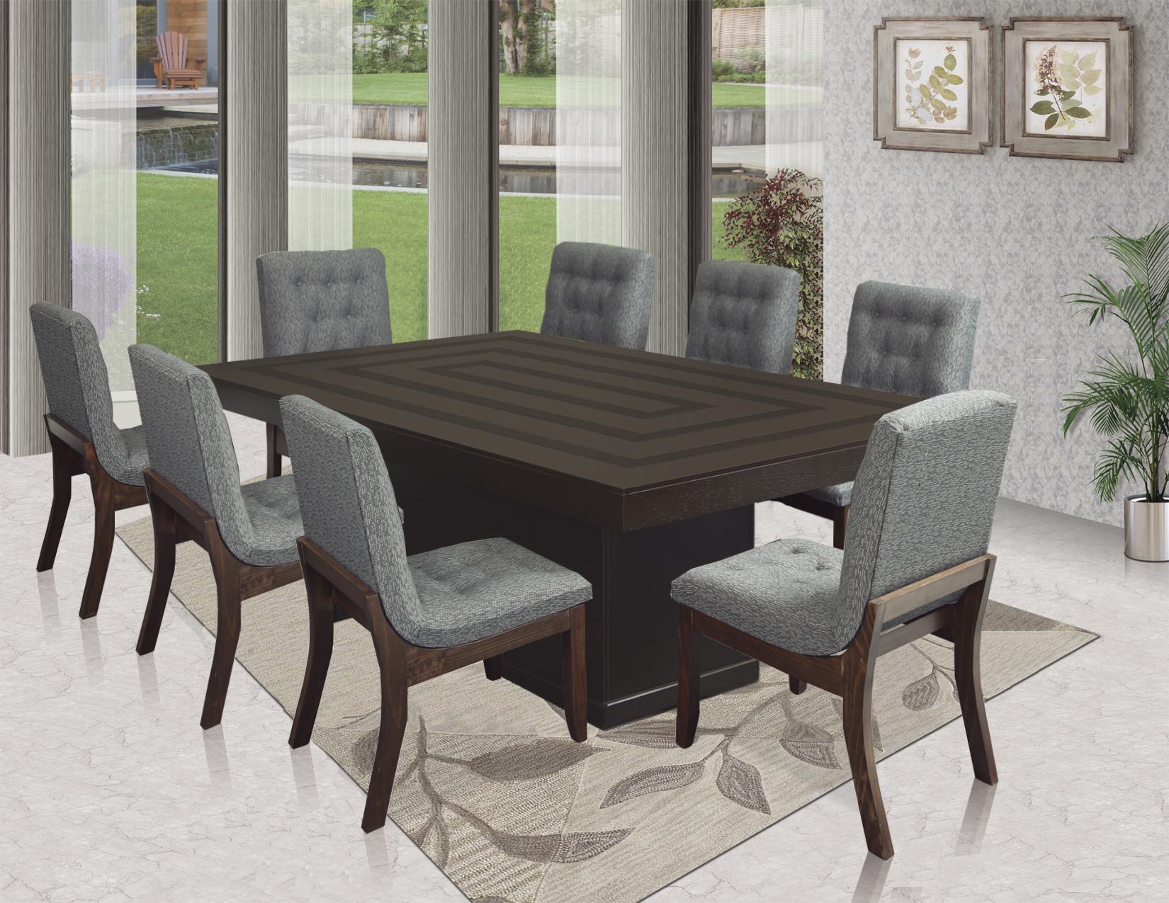 Comedor Europea Nogal 8 sillas
